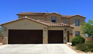 Tucson home with tile roof